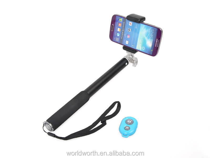 Shenzhen Manufacturer Mobile Phone Wireless Monopod Remote Buttoon Control Selfie Pod RK906