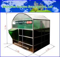 hot selling portable assembly cow dung biogas plant