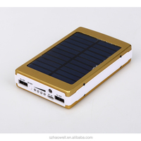 universal mini portable solar mobile power bank , waterproofbank solar charger