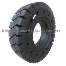 China Supplier Pneumatic Solid Rubber Industrial Forklift Tires 6.5-10 5.50-15 With Holes
