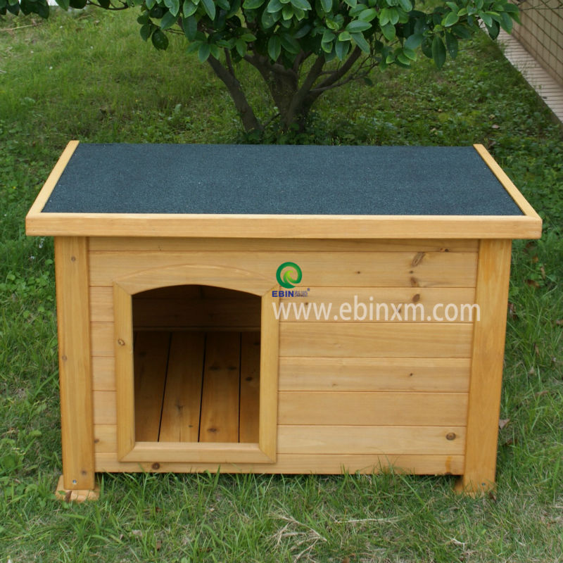flat roof wood dog house XEP0106