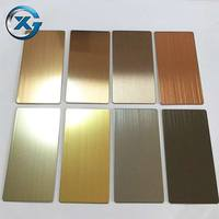 Provide customer design 0.8mm brushed 201 stainless steel for wall panel