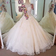 LS00075 plus size wedding dress with long train formal dress patterns crystal beads for diamond bridal wedding dress