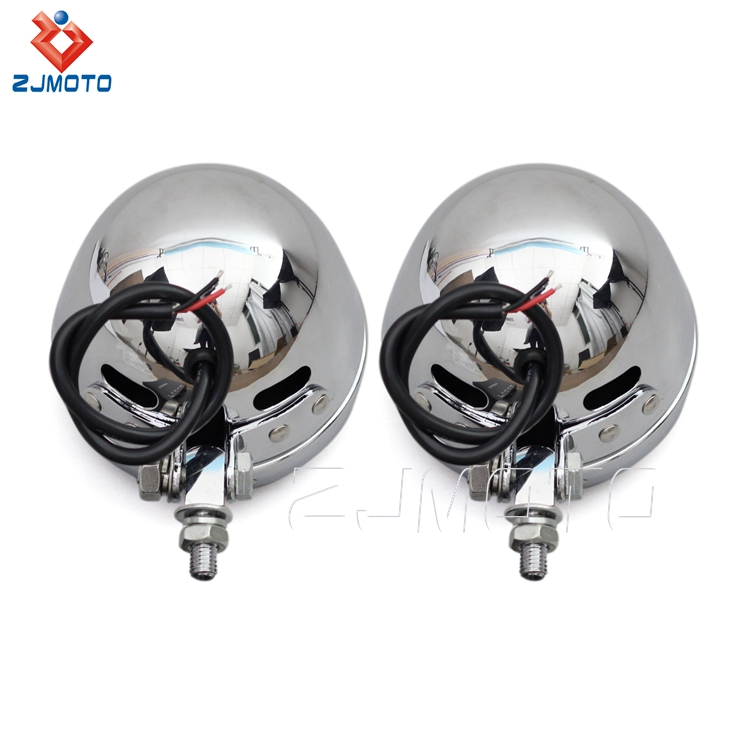 Factory Price High Quality Steel 4.5'' Chrome LED DRL Motorcycle Fog Lights For Custom Bikes