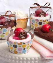Personalized Wedding Cupcake design Towel favors