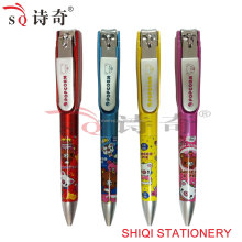 Nail Cutters Attached Plastic Ball Pen(SQ2243)