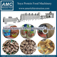 Textured vegetable protein machine,soya meat machines, full fat soy chunks extruder