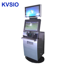 Dual screen cash acceptor debit card bill payment kiosk with a4 printer