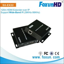 Foxun/OEM Factory Supply Home Theater System 1.4v HDMI Extender Over Lan IP, 120m, Wide-band IR(38Khz to 56Khz)