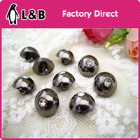 Fashion Style Pearl Button Shank Button With Rhinestone