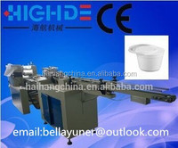 HDX-4500 disposable lunch dinner soup bowl wrapping machine