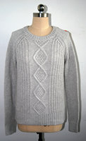 women cable knit pullover 100% acrylic cashmere feel yarn