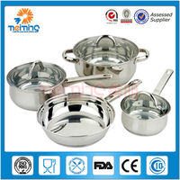 2016 new arrival 12pcs stainless steel cookware set