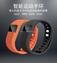 TW64 Bluetooth Health Smart OLED Bracelet Wristband Watch Pedometer Cell Phone Mate Blue with Sleep Monitoring Calorie Calculate