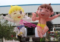 5m high advertising inflatable cartoon boys and girls