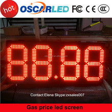 good 4 digit format led display/screen led electronicf single red board 12 inch 7 segment display for gas/oil station usage