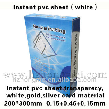 White Instant inkjet printable PVC Sheet 300*30mm A+B+A