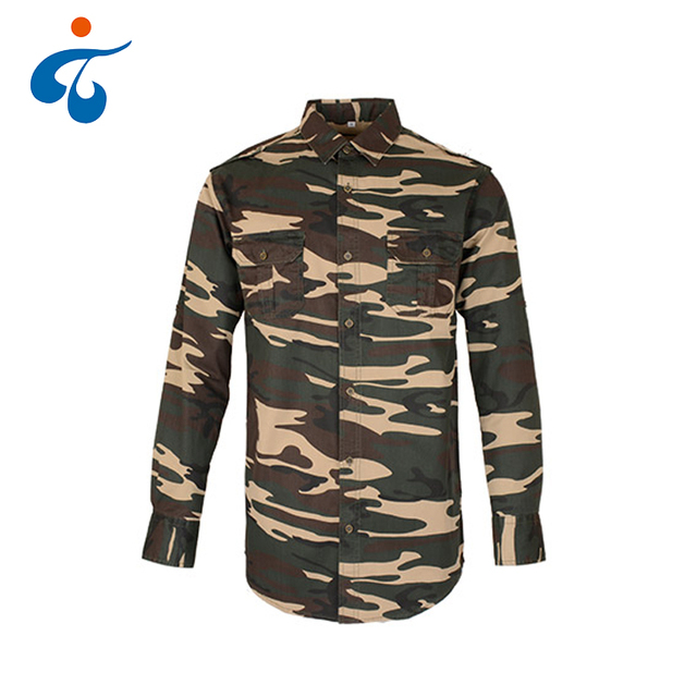 Best selling modern design soft cotton mens long sleeve casual military shirts