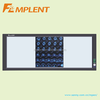 CE approved ultra thin and high brightness three screen led backlit x ray film viewer