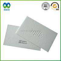 Rough surface but nice touch feeling paper design name card/cotton paper made name card/hard rough paper name card