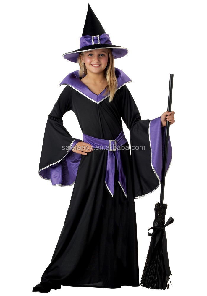 Child glamour witch costume halloween kid clothes QHGC-0021