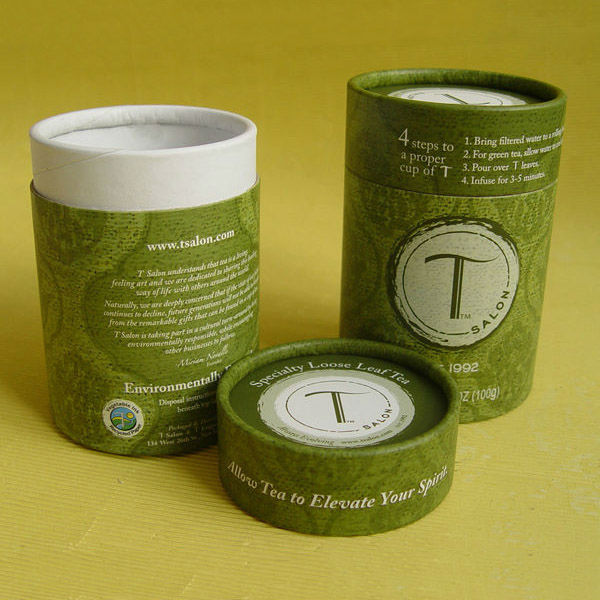 wholesale custom bulk yellow round cardboard paper tea canister