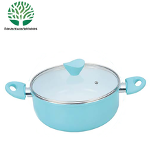 Forged Aluminum White Foil Ceramic Coating Thermoware Hot Pot Casserole