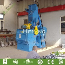 Tumblast Belt Rubber Track Small Shot Blasting Machine For Small Foundry Parts