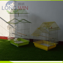 Stock small wire bird breeding cage with drinker