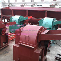 2t/h tractor base high capacity diesel wood hammer mill crusher wood hammer mill crusher with cyclone