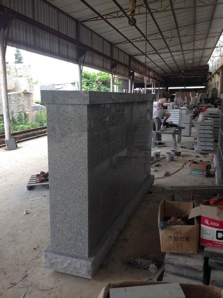 Shanxi Black And G603 Granite Columbarium Niche For Sale