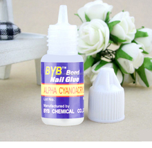 High Quality Instant Nail Glue 3g Acrylic Tips Adhesive Tool BYB Bond Nail Glue 50 Pcs/lot