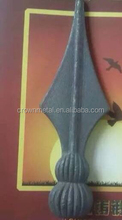 cast iron spearhead iron spearpoint ornamental for fence head iron spear