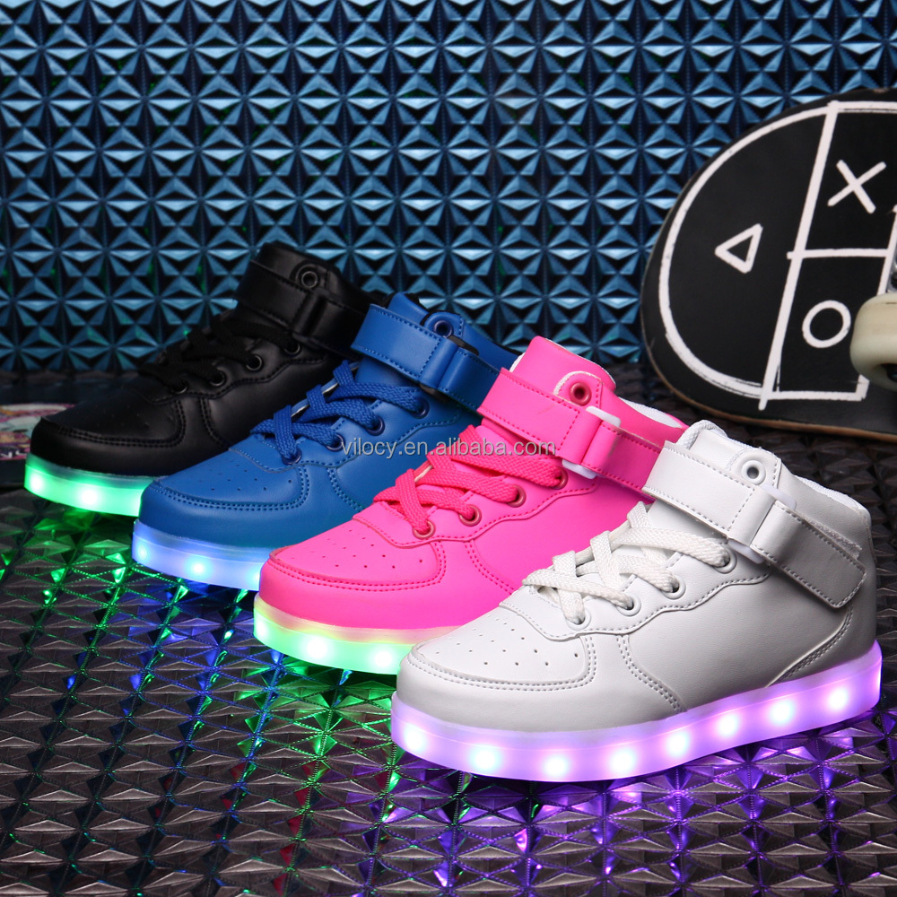 Led light up shoes For kinds USB charging Hight top fashion sneaker