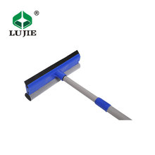 Industrial best large wide adjustable long handle indoor outdoor home house window washing rubber squeegee
