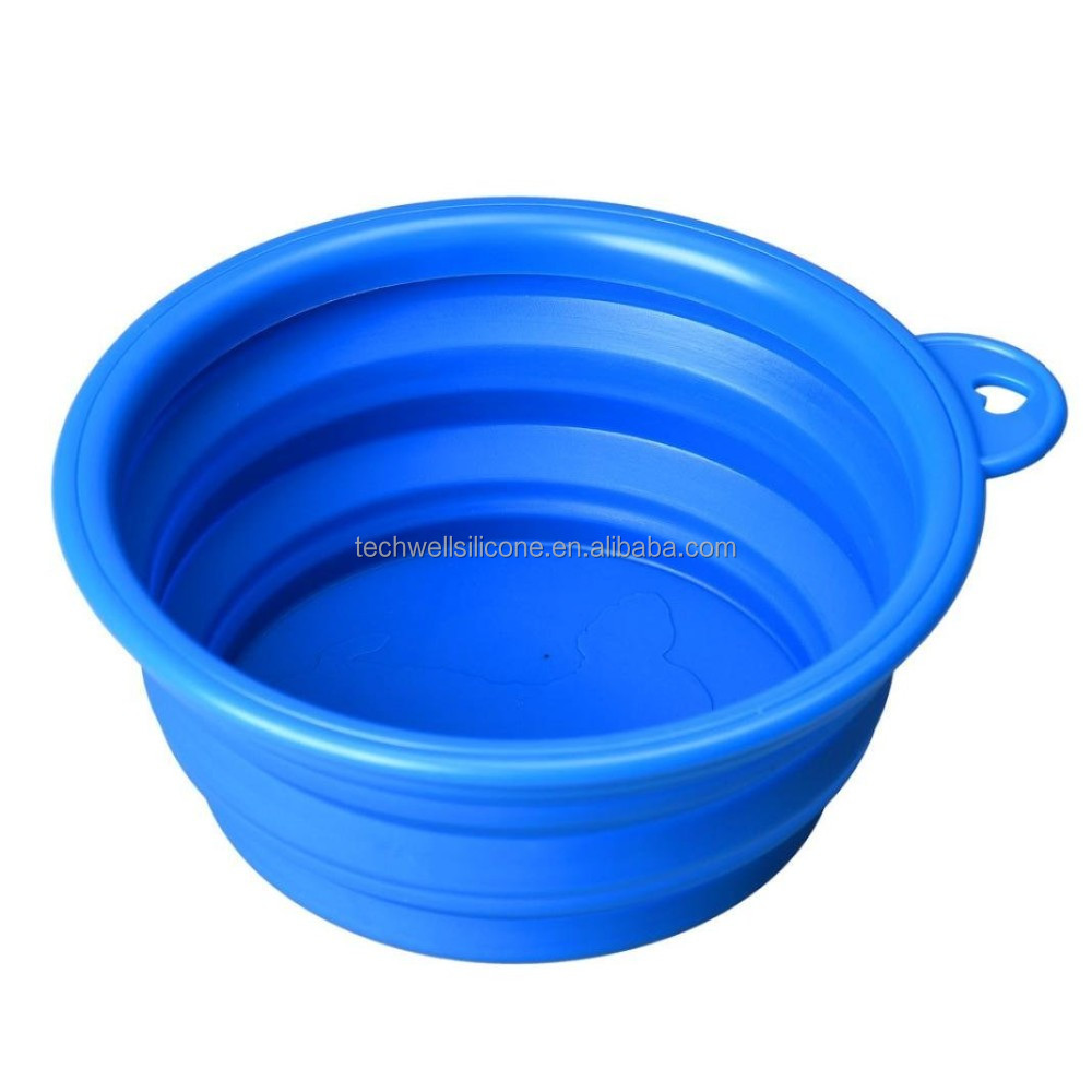 Non-toxic colorful silicone folding mixing bowl