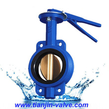 Wafer type butterfly valve supplier long handle level butterfly valve
