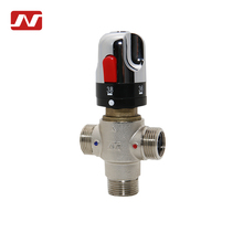 "China supplier 3/4"" brass cold and hot water thermostatic mixing valve for solar heating"