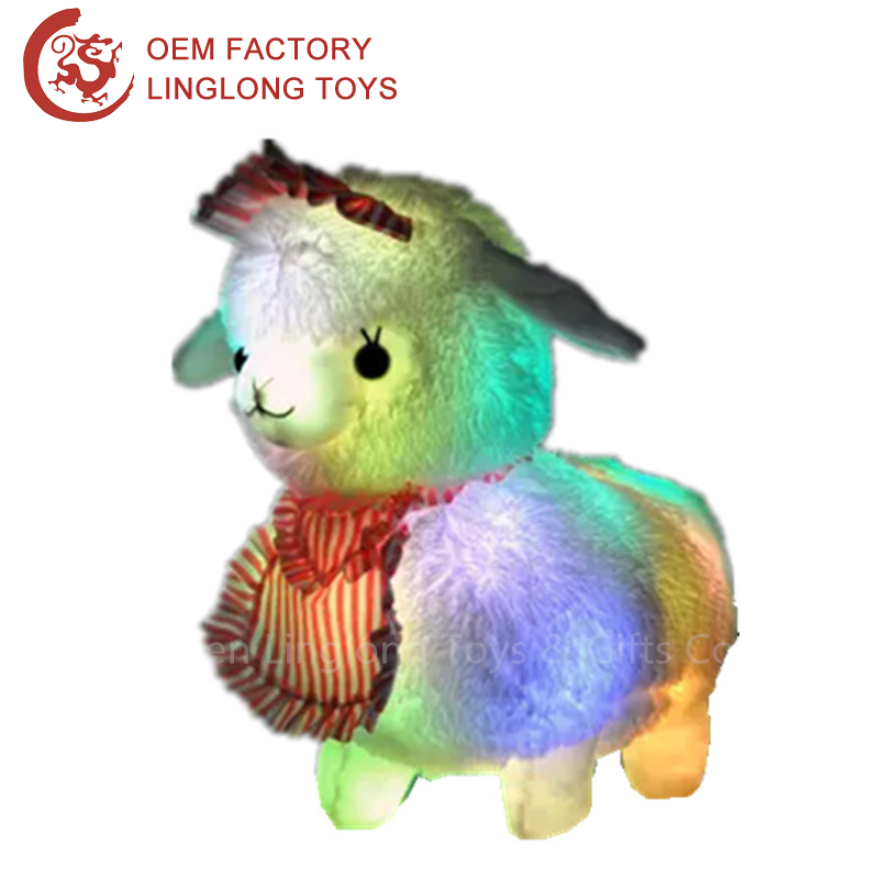 Led White Sheep Plush Toy/Factory Direct Light Up Sheep Stuffed Toy/Led Shiny Lamb Plush Animals Toy