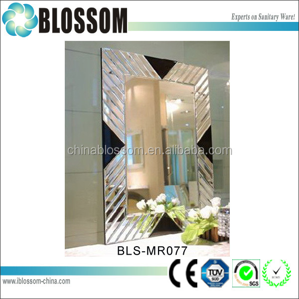 hotel decorative frameless wall mounted magnifying mirrors
