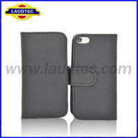 For Iphone 5C Case 100% Fit Hot Selling Wallet Leather Case for iPhone 5C with Credit Card Holder, Laudtec