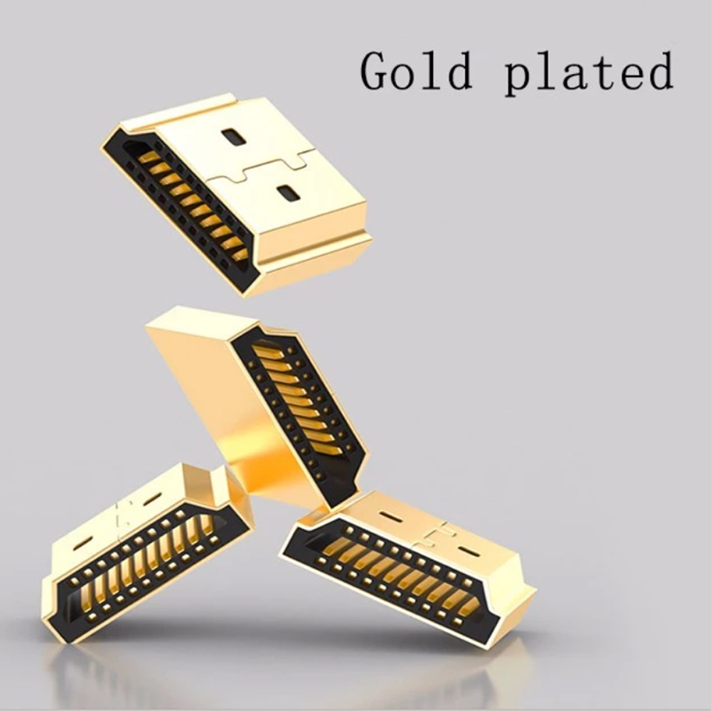 24K Gold Plated Locking HDMI Connector High Speed Zinc Alloy Shell HDMI 4K 2.0 Cable