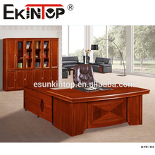 China manufacturer supply high hot sell veneer office table Executive L shape MDF office desk