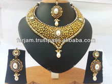 INDIAN DESIGNER POLKI JEWELRY SET
