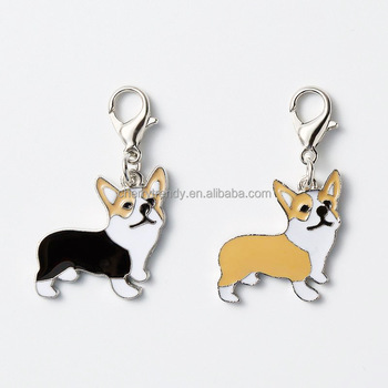 Metal Pet Dog Keychain Pendant Bag Charm