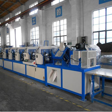 paper edge protector production line with section for cutting protective cardboard corners