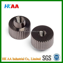 Custom machining cnc stainless steel female thumb screw, quick release thumb screw