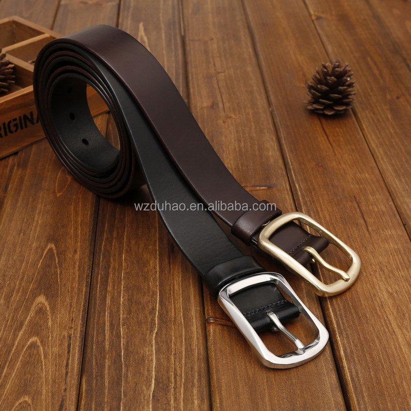 Fashion High Quality Casual Vintage Cowhide Full Grain Leather Male belt