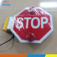 American school bus foldable hand held stop signs