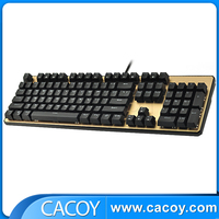 Wired Mechanical green Backlit Gaming Keyboard Factory Wholesale Direct!